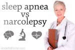 What is the difference between sleep apnea and narcolepsy?
